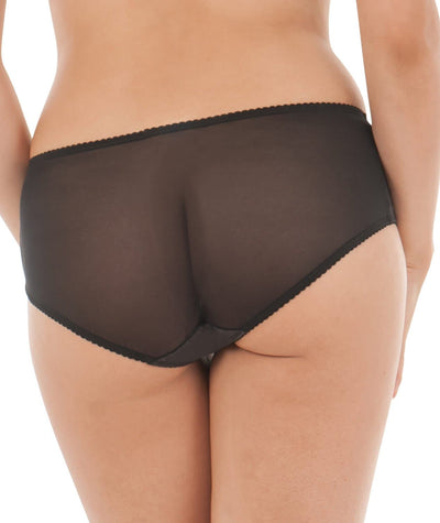 Curvy Kate Charm Short - Black / Rose Knickers
