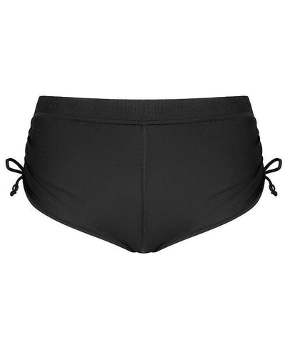 Capriosca Plain Matt Adjustable Side Short - Black Swim