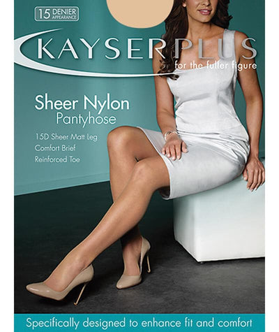 Kayser Plus Sheer Nylon Pantyhose - Almond Hosiery AV