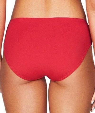 Sea Level Plains Mid Bikini Brief - Red - Back