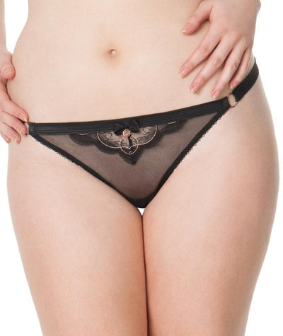 Scantilly Surrender Thong - Black - Front