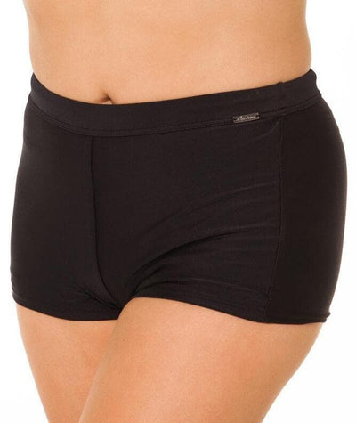 Capriosca Plain Matt Boyleg Pant - Black Swim 10
