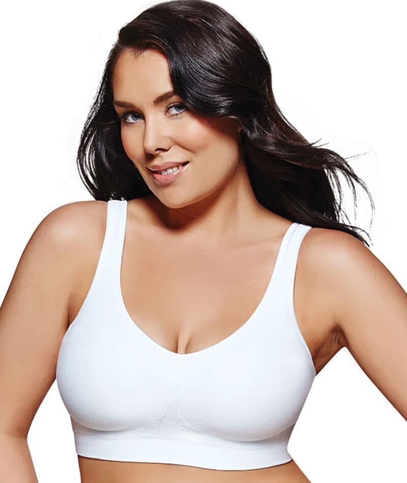 96ff8a4385a Playtex Play Comfort Revolution Wirefree Bra P3488 in White - Curvy