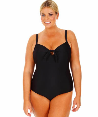 "Capriosca Black	One Piece with Bow 10- 20 ""front view"""
