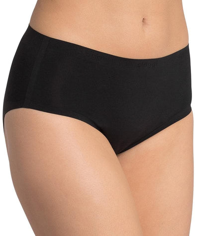 Triumph Sloggi Invisible Supreme Cotton Midi Brief - Black- Front View
