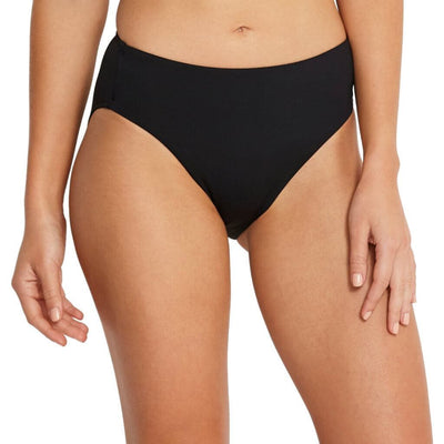 Seafolly Regular Retro Power Mesh Bikini Brief - Black Swim
