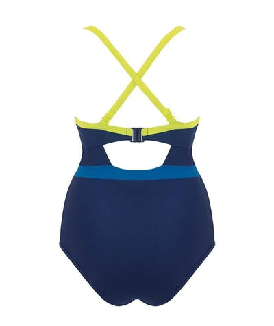 Curvy Kate Maya Halterneck One Piece Swimsuit - Blue Mix Swim