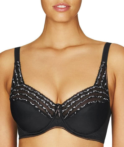 Fayreform The Ultimate Minimiser Underwire Bra - Black - Front