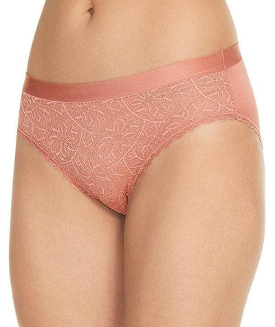 Berlei Barely There Lace Bikini Brief - Blush - Side
