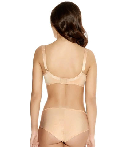 Freya Idol Underwired Moulded Balcony Bra - Nude - Model - Back