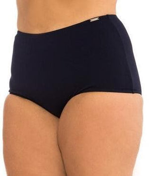 Capriosca Chlorine Resistant Plain High Waisted Pant - Black Swim 10