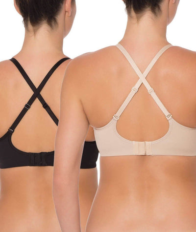 Triumph Mamabel Smooth Maternity Bra 2 Pack - Black & Nude Bras