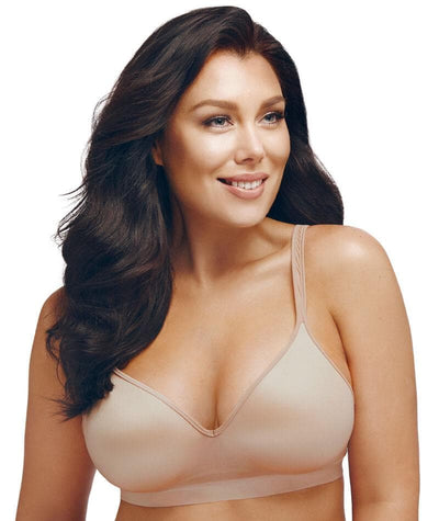Playtex Comfort Revolution SmoothTec Wirefree Bra - Nude - Front