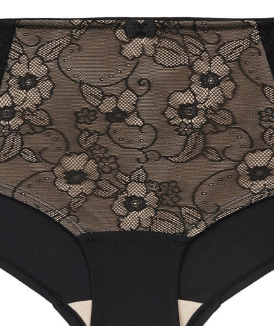 Ava & Audrey Marilyn Lace Hipster Brief - Black/Cream Knickers