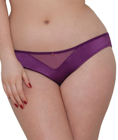 "Scantilly Peek A Boo Brief - Violet ""front"""