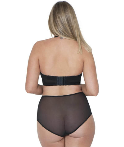 Curvy Kate Deluxe High Waist Brief - Black/Almond - Model - Back