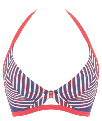 Curvy Kate Ahoy Halterneck Bikini - Nautical Stripe Swim