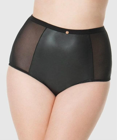 Scantilly Unleash High Waist Brief - Black Knickers L