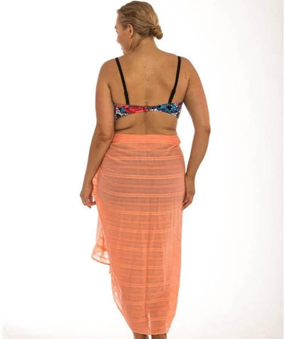Capriosca Beach Cover Up Sarong - Coral - Back