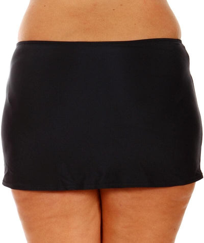 "Capriosca Black	Skirted Bottom ""back view"""