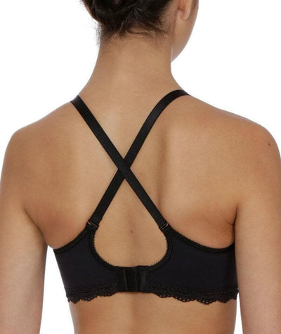 Triumph Gorgeous Mama Top Bra - Black - Crossover - Back
