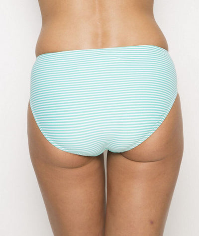 Nip Tuck Sorrento Stripe Bikini Brief - Mint/White - Back