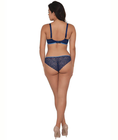 Curvy Kate Ellace Balcony Bra - Indigo - Model - Back