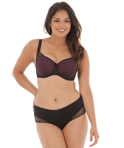 Curvy Kate Trixie Padded Balcony Bra - Black/ Mulberry Bras