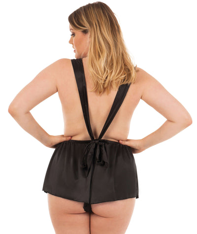 Scantilly Flawless Teddy - Black Babydoll / Chemise