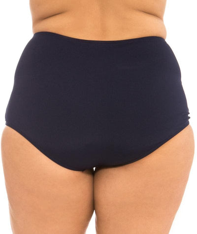 Capriosca Chlorine Resistant High Waisted Pant - Navy Swim
