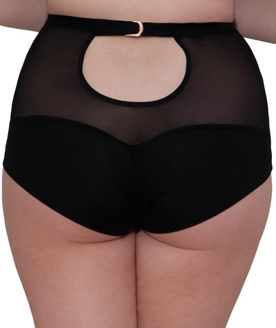 Scantilly Unleash High Waist Brief - Black Knickers