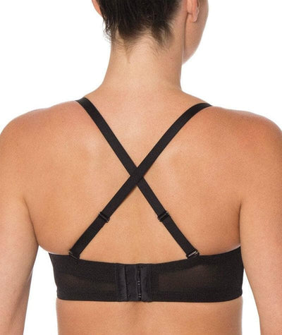 Triumph Beautiful Silhouette Strapless Convertible Bra - Black - Cross - Back