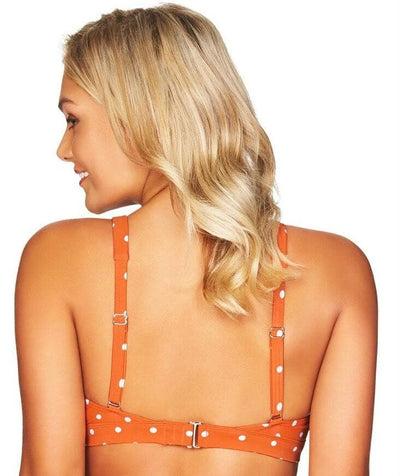 Sea Level Retro Spot Tri Bikini Top - Orange - Back