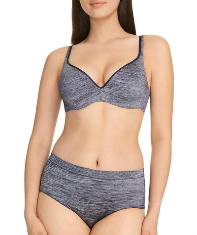 Berlei Barely There Strata Full Brief - Navy - Model - Front