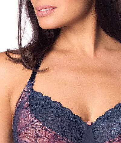 Hotmilk Temptation Maternity & Nursing Bra - Mood Indigo Bras