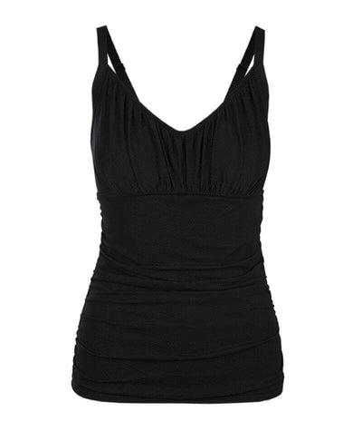 Capriosca Honey Comb Underwire Tankini Top Swimsuit - Black Swim