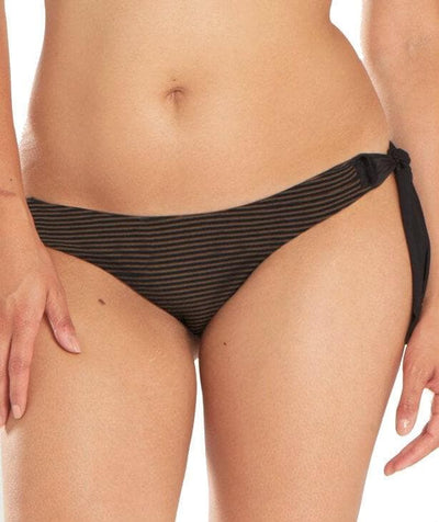 Curvy Kate Onyx Tie Side Brief - Black Stripe Swim 10