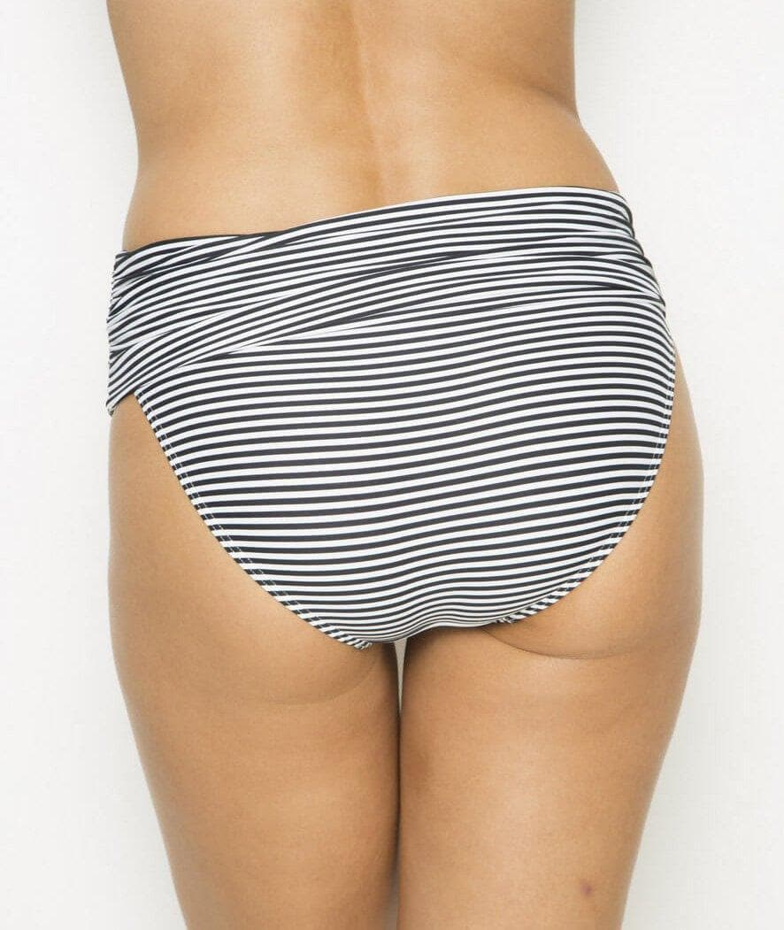 Nip Tuck Roll Band Brief - Black/White - Front