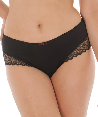 Curvy Kate Trixie Short - Black/ Mulberry Knickers