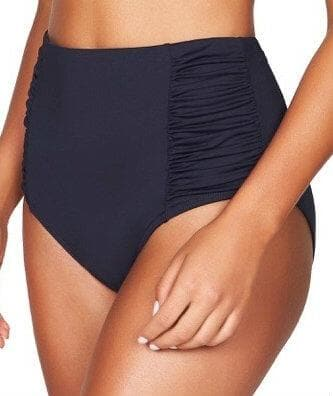 Sea Level Plains Gathered Side High Waist Brief - Night Sky Navy - Side