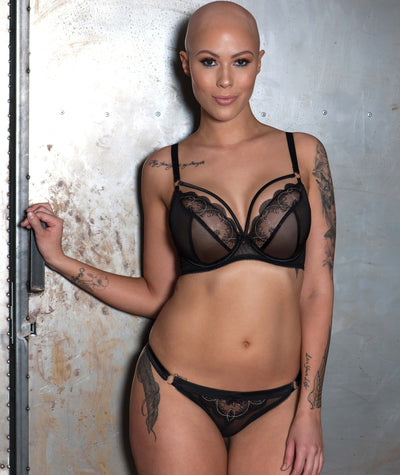 Scantilly Surrender Balcony Bra - Black - Model - 3