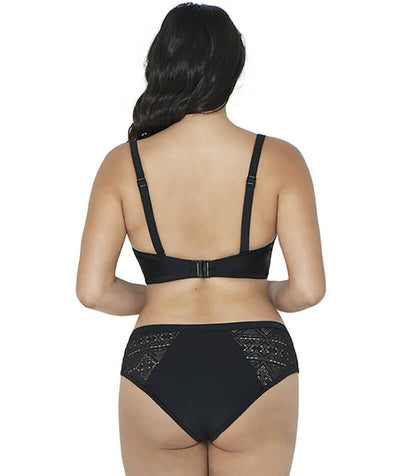 Curvy Kate Rush Plunge Bikini Top - Black - Model - Back