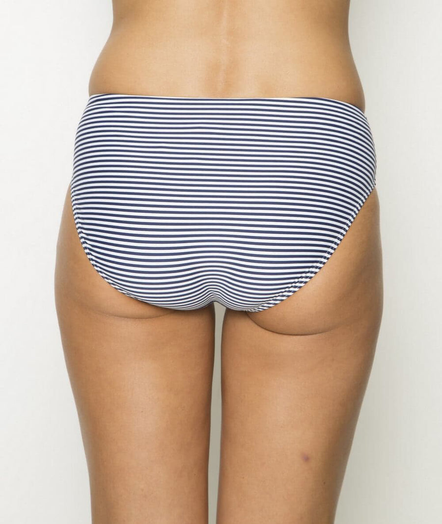Nip Tuck Sorrento Stripe Bikini Brief - Navy/White - Front
