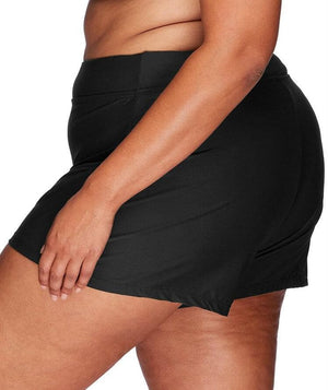 Artesands High Waist Swim Short - Black - Front