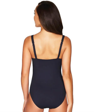 Sea Level Essentials Twist Front B-DD Cup One Piece Swimsuit - Night Sky Navy Swim 8