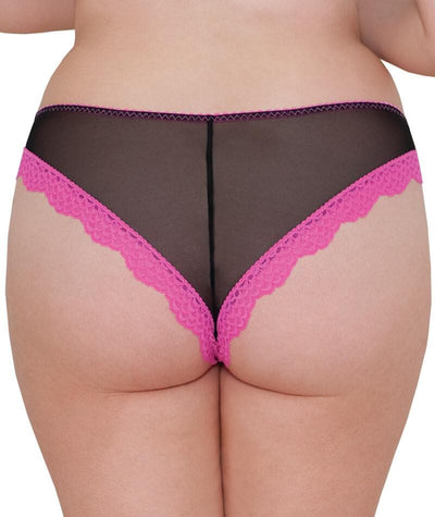 Curvy Kate Vegas Brazilian Brief-Black Print Knickers