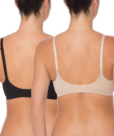 Triumph Mamabel Smooth Maternity Bra 2 Pack - Black & Nude