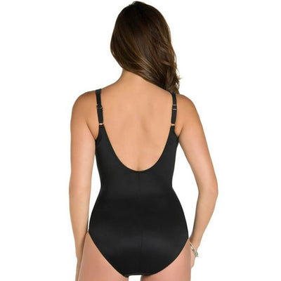 Miraclesuit Sanibel E-G Cup Underwire One Piece Swimsuit - Black Swim