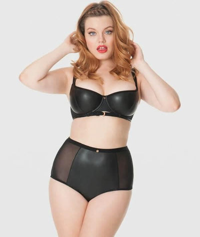 Scantilly Unleash High Waist Brief - Black - Model - Front