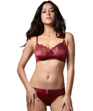 Hotmilk EveryWoman Devoted Wirefree Bra - Deep Red Bras 16H